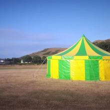 Colourful tent at summer event